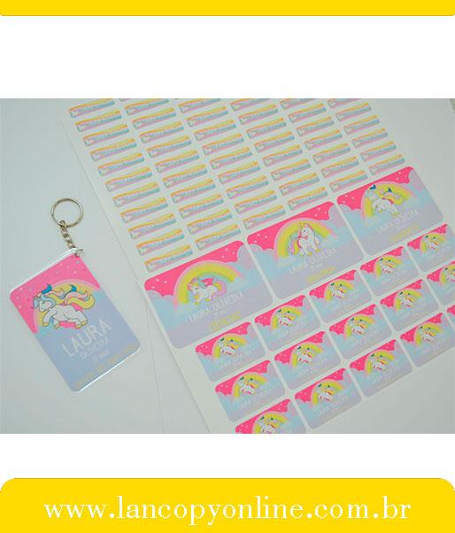 Kit De Etiquetas Escolares Unicornio Lancopy Boaventura